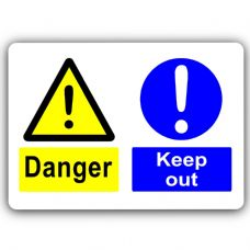 Danger Keep Out-Aluminium Metal Sign-150mmx100mm-Notice,Door,Business,Premises,Health,Safety,Policy